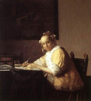 Johannes Vermeer : A Lady Writing a Letter